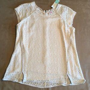 Pixley Yuli lace cap sleeve blouse. New w tags.